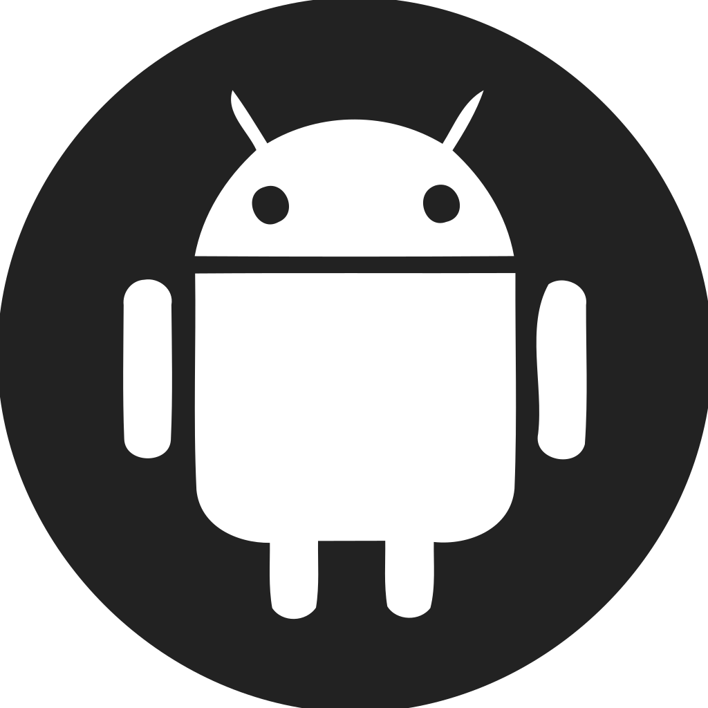 Android Logo Filled Circle Icon