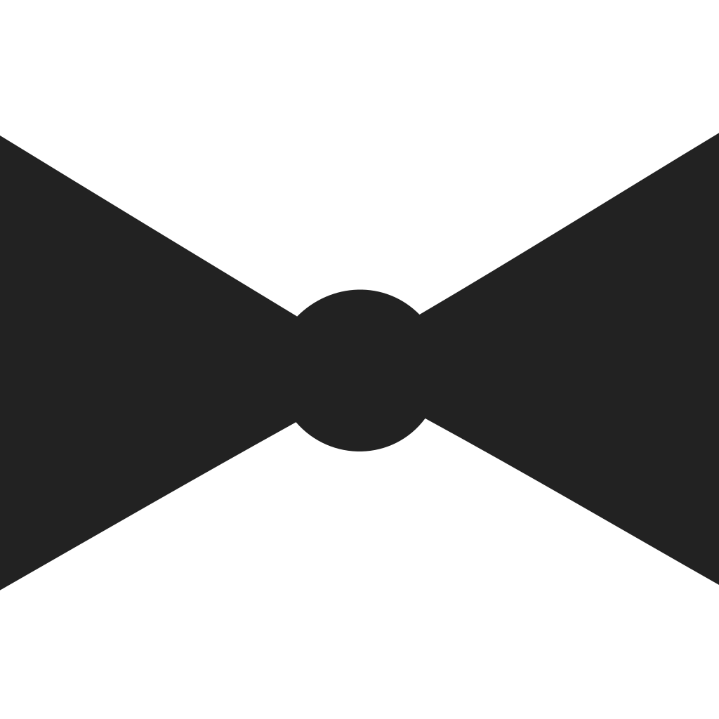 Bow Tie Dark Icon