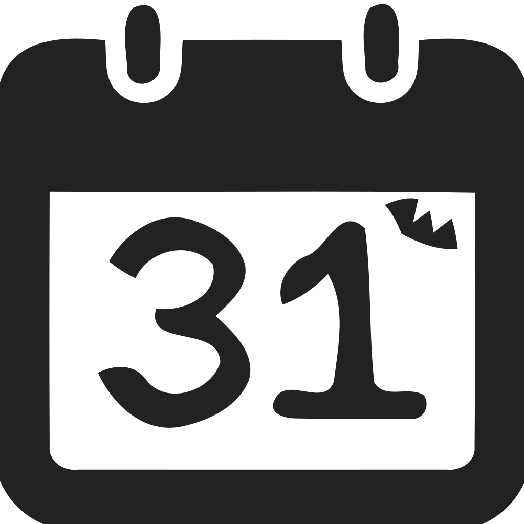 Calendar  halloween date Icon