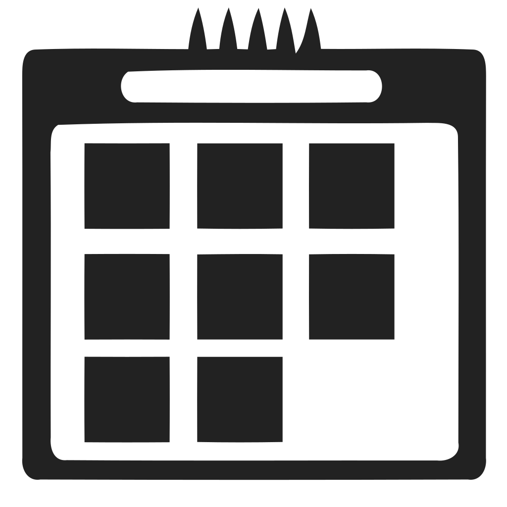 Calendar with squares Icon