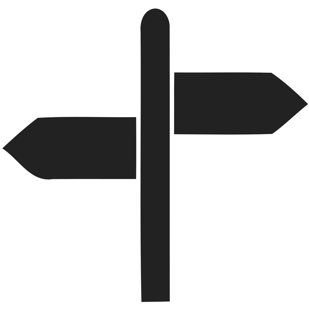 Directions White Stroke Icon