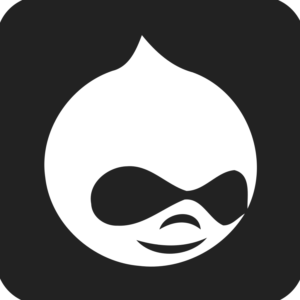Drupal Square Filled Icon