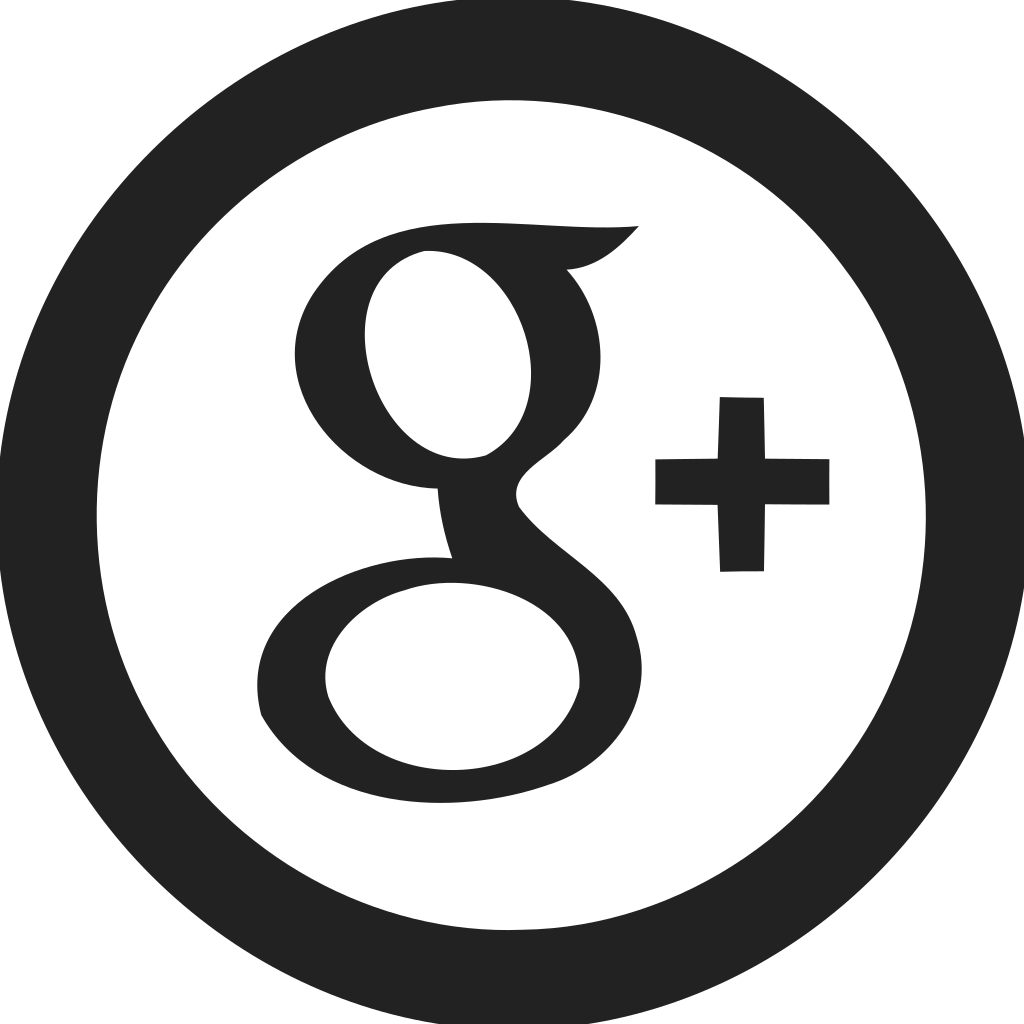 Google Plus Circle Empty Icon