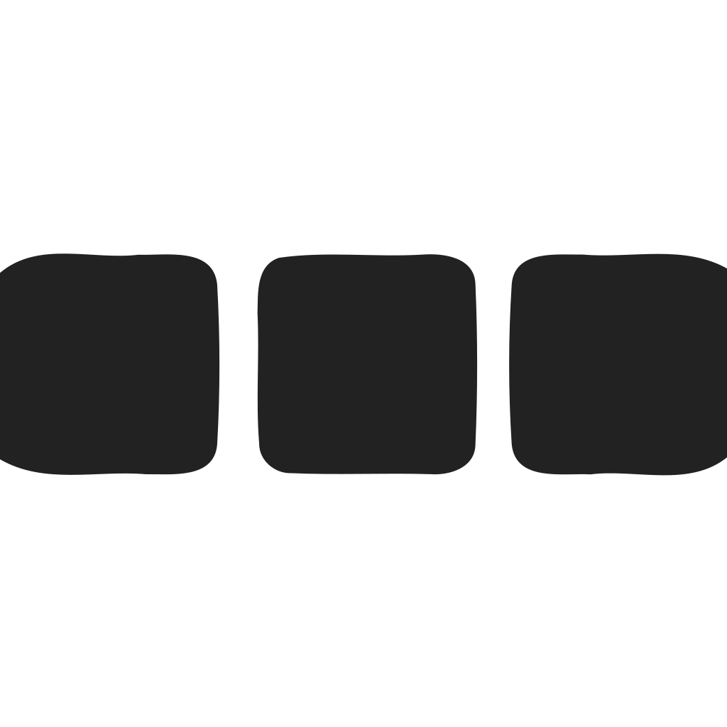 Preloader Horizontal Squares Rounded Icon