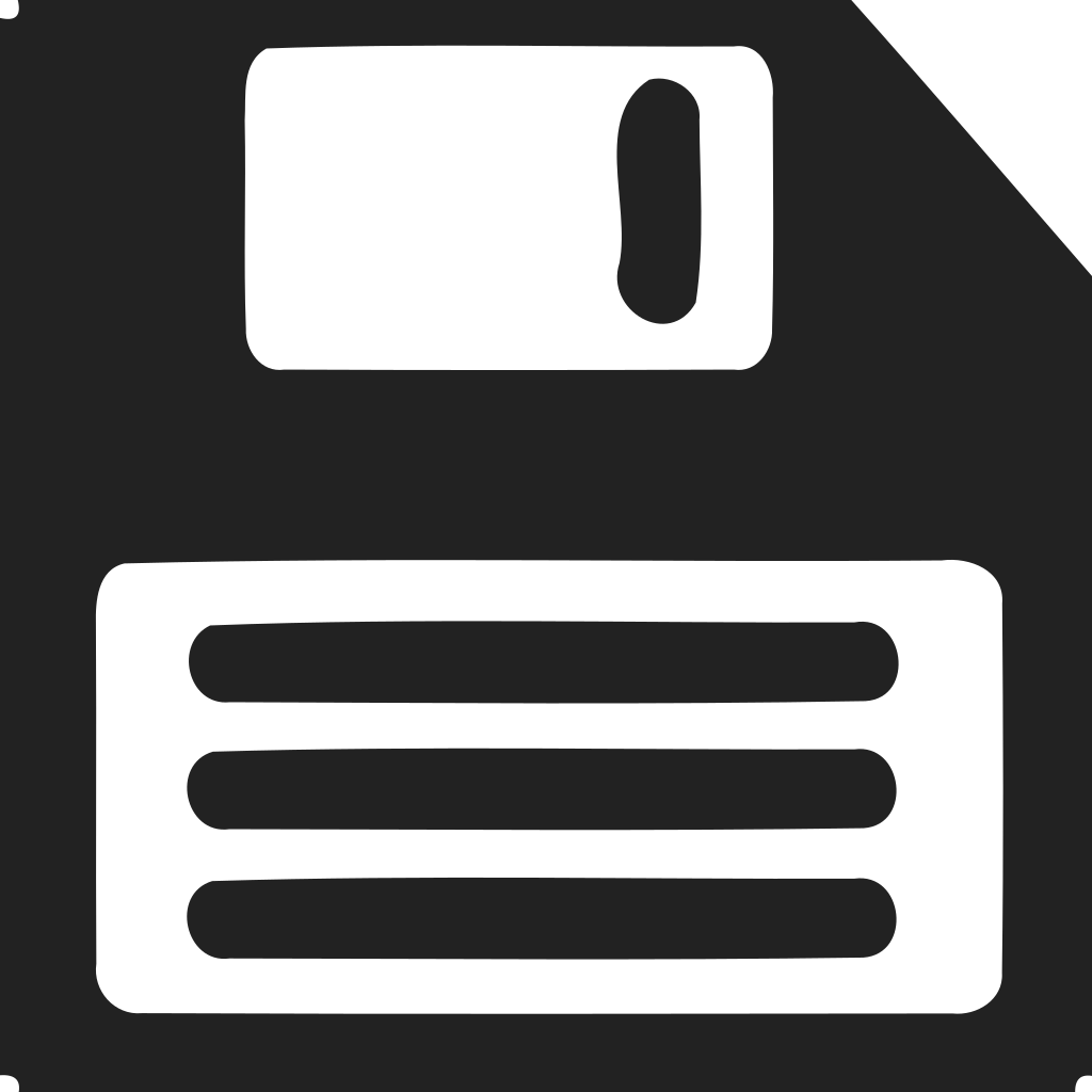 Save Floppy Disk Lines Icon