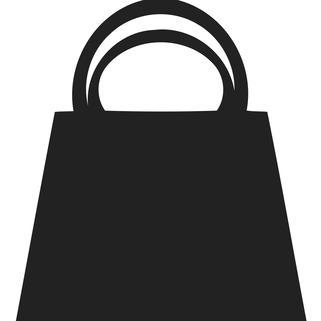 Shopping Bag Double Handle Icon
