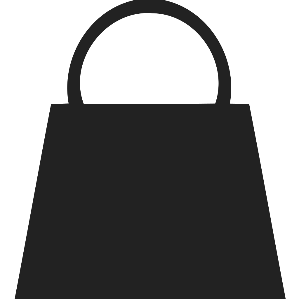 Shopping Bag Half Round Handle Icon