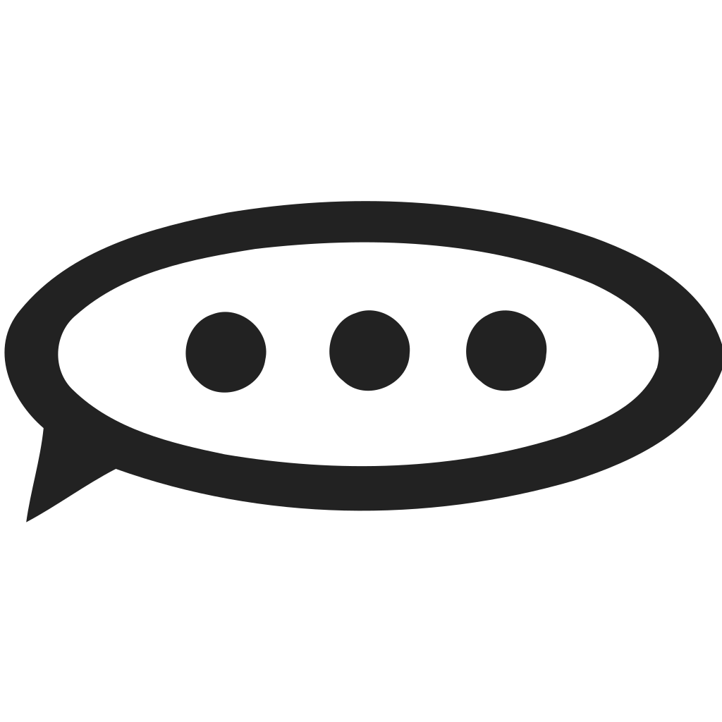 Speech Bubble Dots Icon